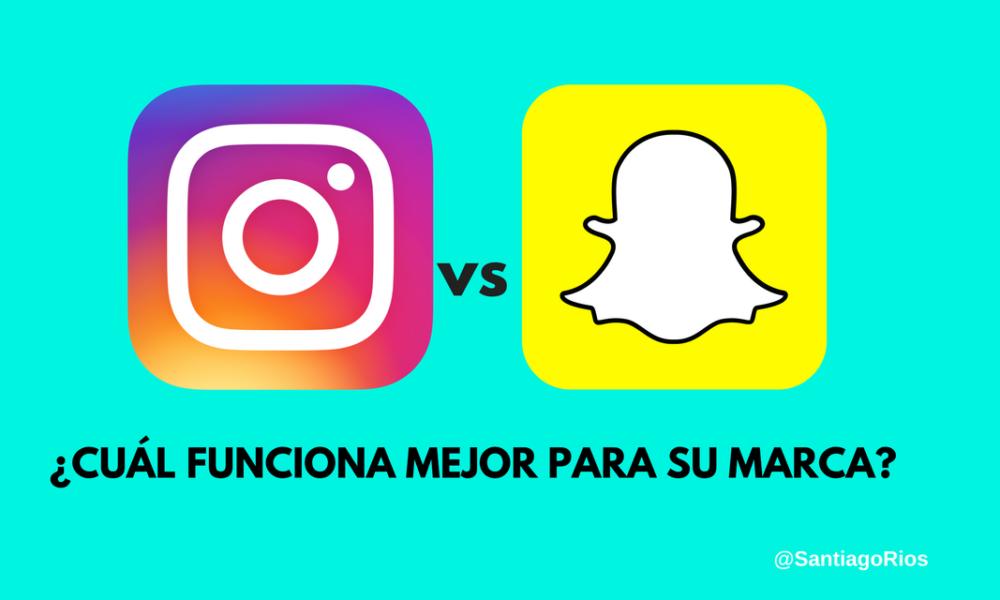 Instagram o Snapchat